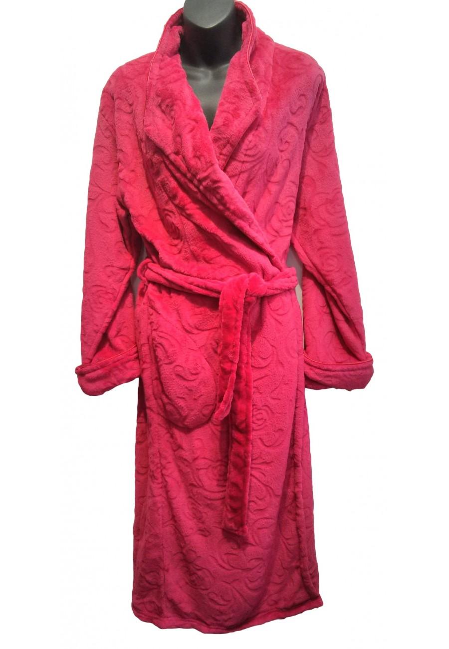 Robe de chambre rose fushia Patricia Lingerie - Boutique Isla Mona ...