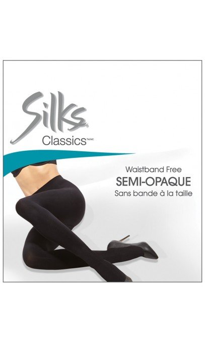 Waistband free panty with cotton-lined gusset of Silks
