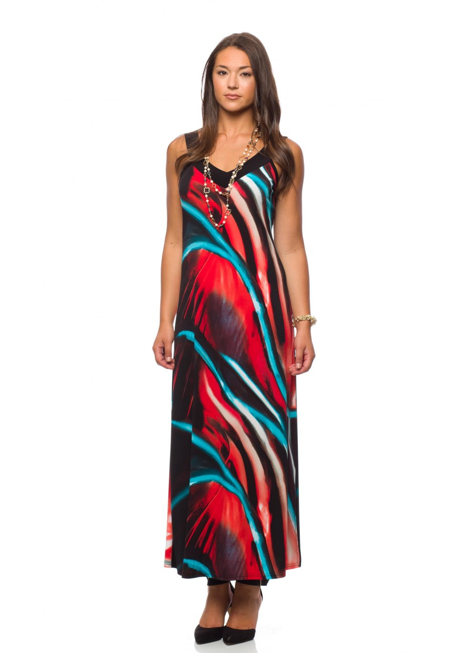 robe longue super color modes gitane prt a porter loading zoom - Robe Longue Colore