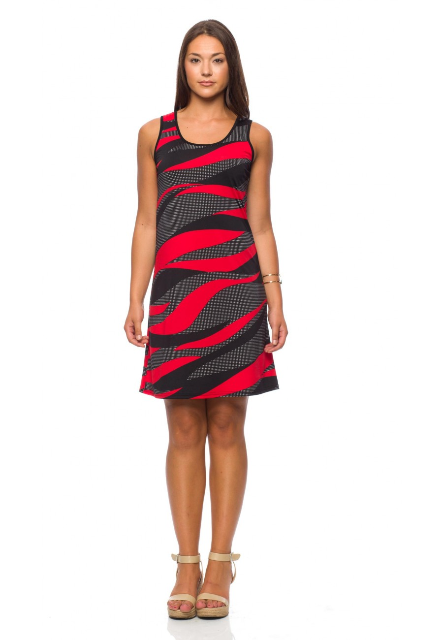 4cae790ad9b Funky Short sundress Red and Black - Boutique Isla Mona Canada