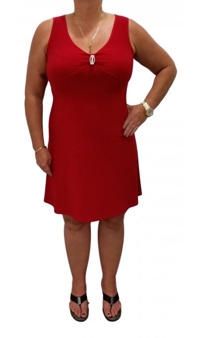 petite robe rouge broche et col en v modes gitane boutique isla mona qu bec. Black Bedroom Furniture Sets. Home Design Ideas