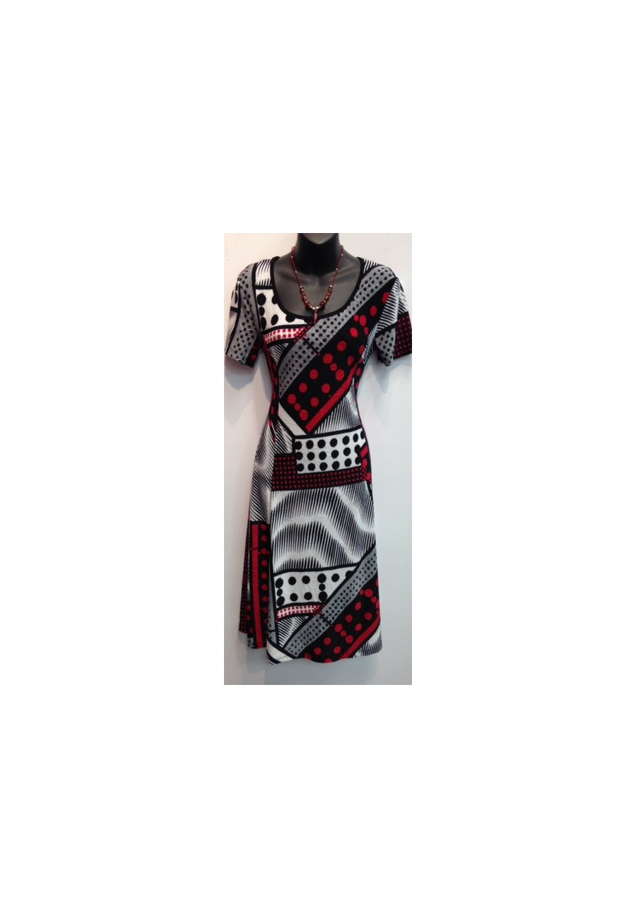 robe imprim mode gitane trois couleur a la mode. Black Bedroom Furniture Sets. Home Design Ideas