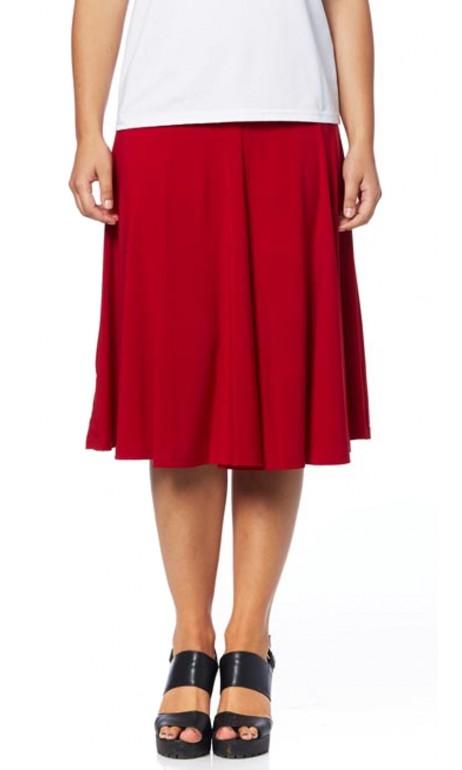 Jupe Rouge a panneau latérale Modes Gitane