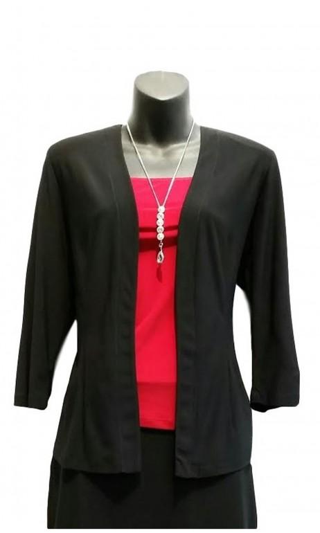 Veston de polyester classique Noir