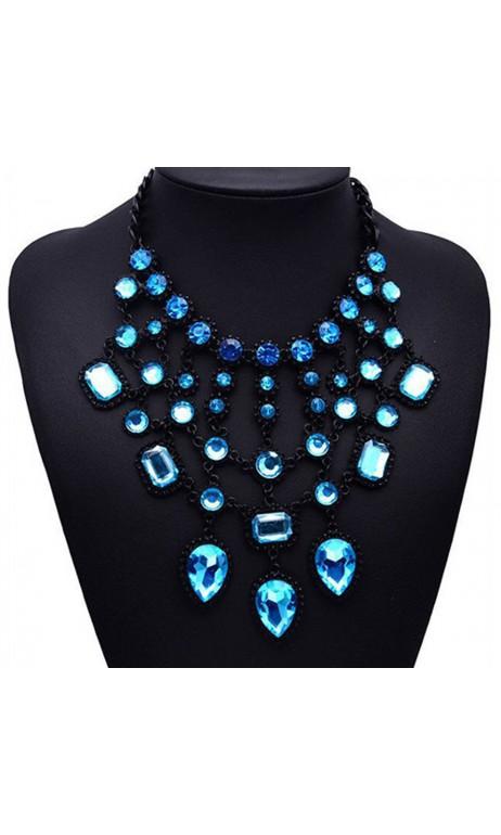 Collier Fashion Noir et Bleu