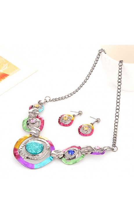 Ensemble Collier le multicolore féminin