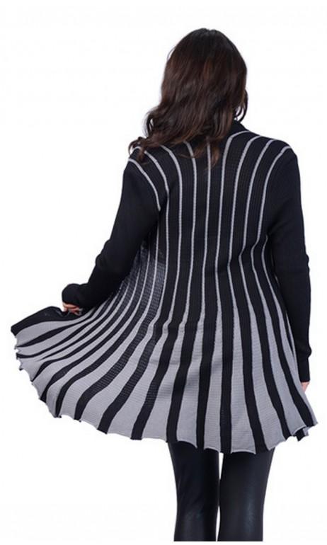 Veste pour tunique Noir et Gris