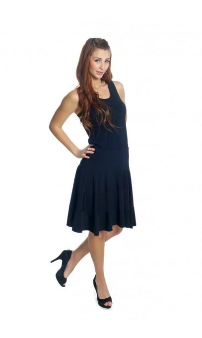 Superbe belle petite jupe noir a panneau horizontale modes Gitane
