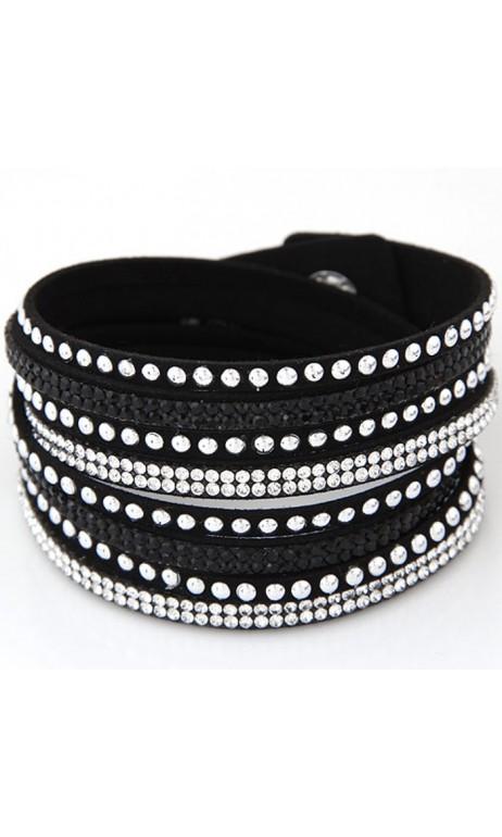 Bracelet brillant Noir