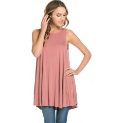 Tunique camisole longue Dusty Rose à la mode