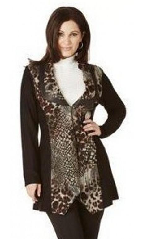 Veste tunique imprimé léopard Modes Crystal Fashions