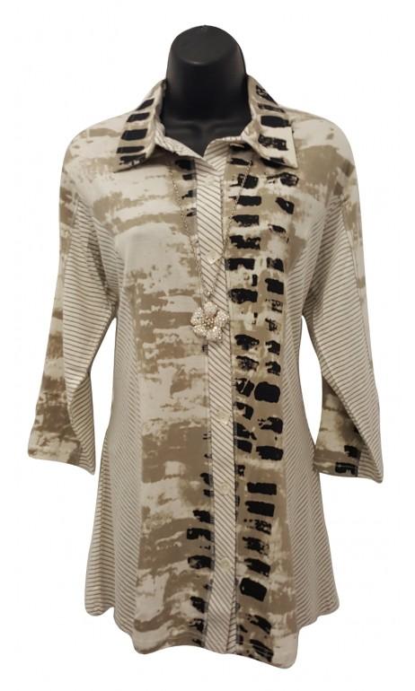 Tunique chemise aux teintes de beige Parsley & Sage