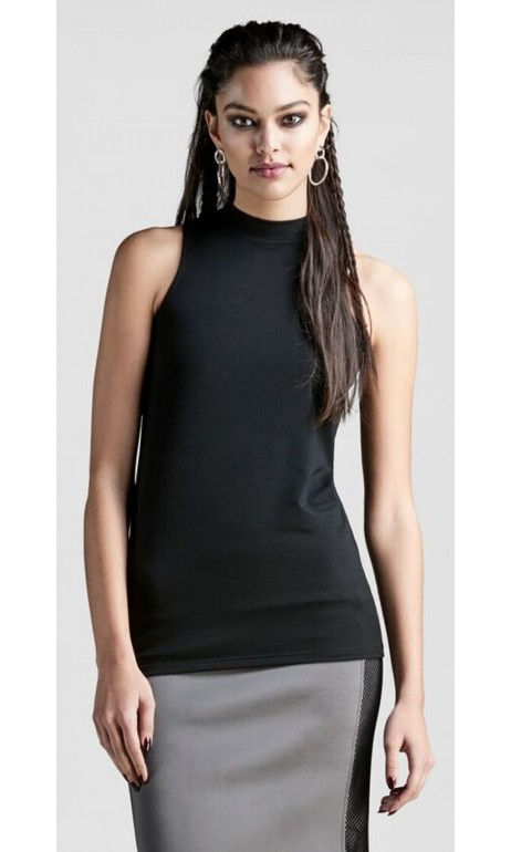 Camisole Black Crew Neck Luxe Anarchie