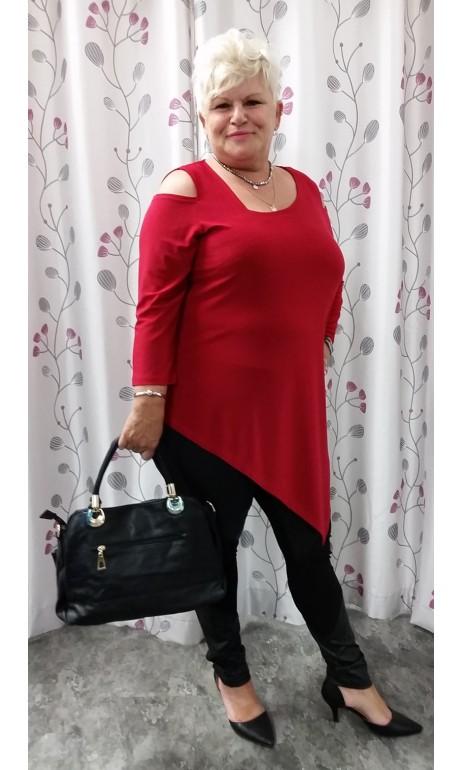 Tunique Rouge épaules dénudées Artex Fashions