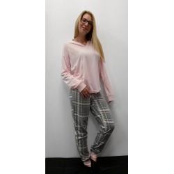Ensemble Pyjama Jacquard Rose