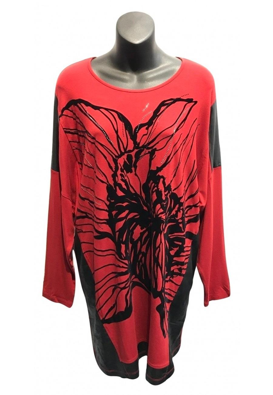 haut rouge et fleur de velour grande madame boutique isla mona qu bec. Black Bedroom Furniture Sets. Home Design Ideas