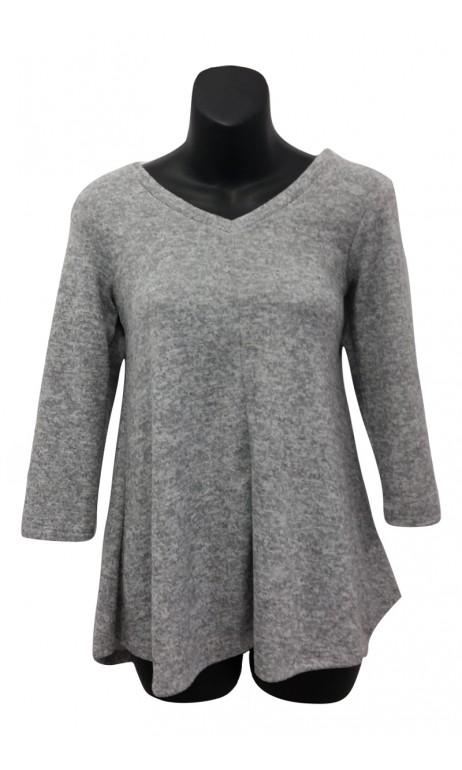 Chandail style laine Gris pâle Collection 24K Trends
