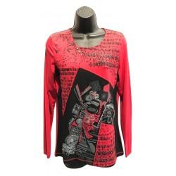 Haut rouge imprimé aztec collection N.A.T