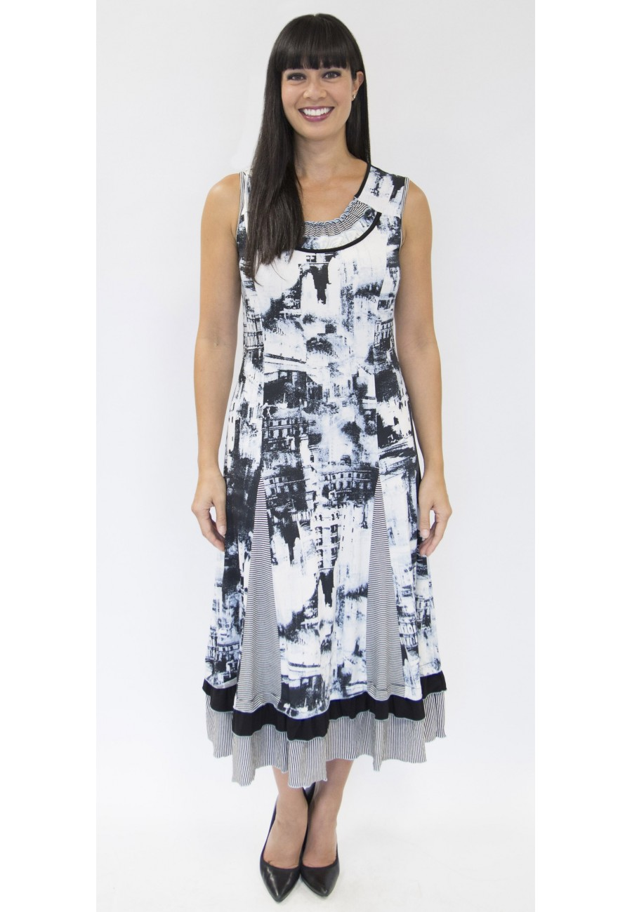 dress tango mango collection black and white color