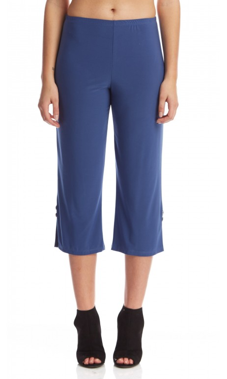 Capri en bas du genoux bleu denim Mode Gitane