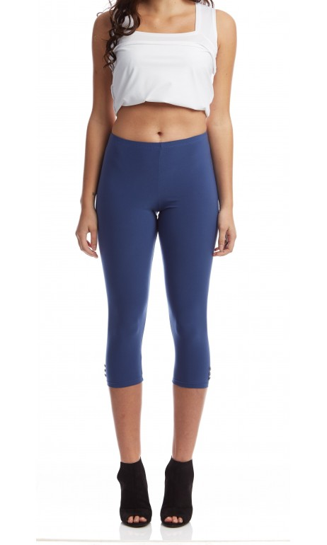 Capri legging bleu denim Mode Gitane