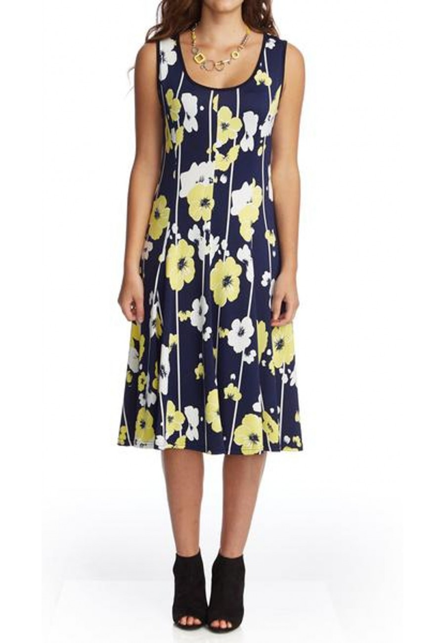 Pannel Dress With Yellow Flowers Of Mode Gitane Collection