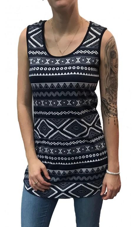 Camisole Aztec Marine Modes Gitane