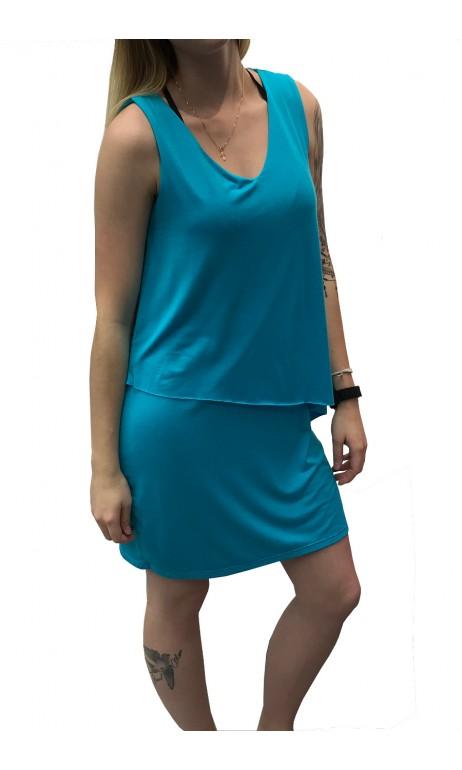 Robe doublée Bleu Turquoise Ariane