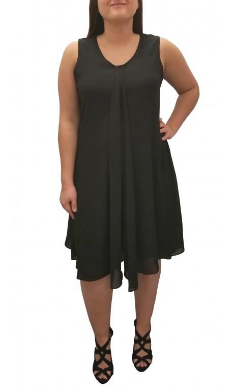 Robe chiffon unie noire Today's designer Fashions