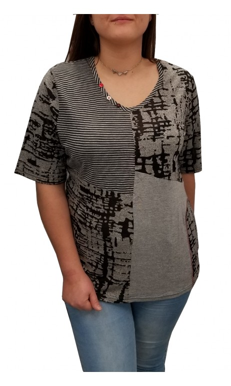 T-shirt aux imprimés gris Parsley & Sage