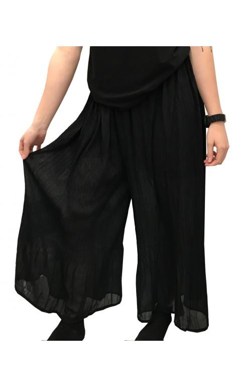 Pantalon chiffon Noir