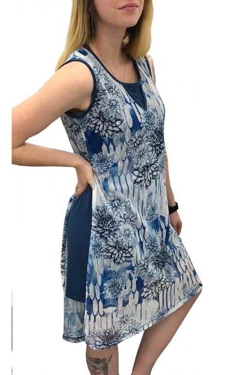 Robe en dentelle Bleu et Blanc Collection Variations