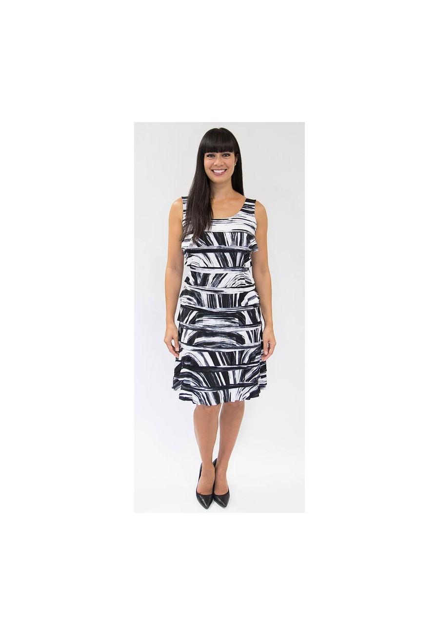 Mango black and white dress