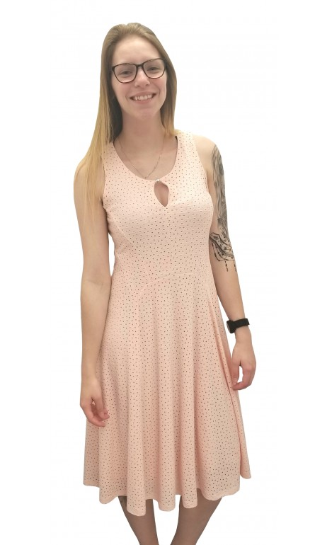 Robe Rose saumon sans manches Artex Fashions