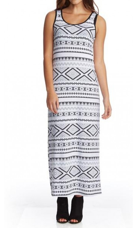 Robe longue aztec Modes Gitane