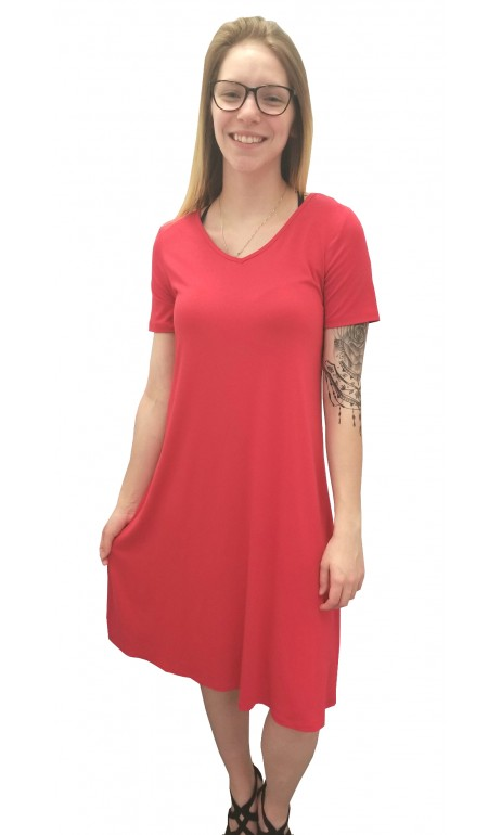 Robe rouge fantaisie dans le dos GG Collection