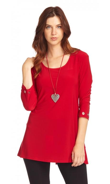 Tunique Rouge petits anneaux féminin