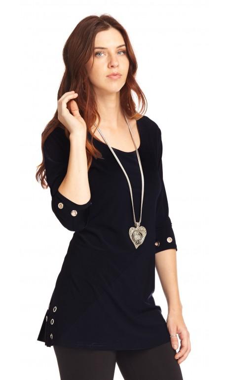 Tunique Noir petits anneaux féminin