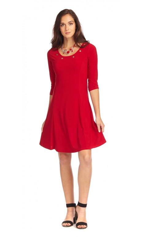 Robe paris rouge anneaux féminin Modes Gitane