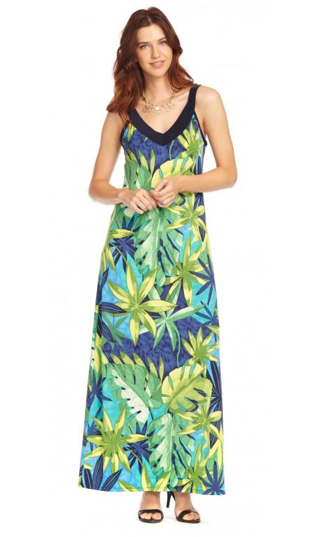 Robe longue imprimé des îles Modes Gitane