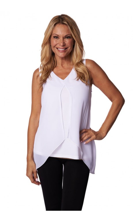 White Camisole lined open Creation