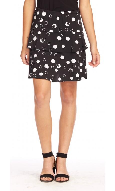 jupe culotte Noir avec petits ronds Blanc Modes Gitane