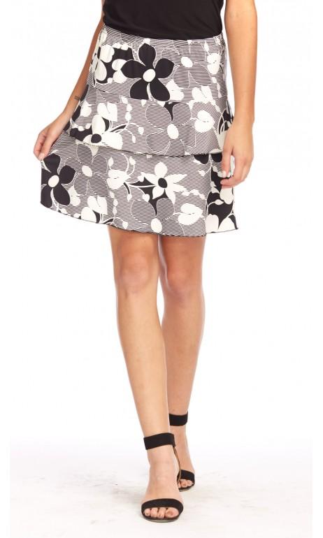 Jupe culotte Blanc cassé imprimé Lindsey Modes Gitane