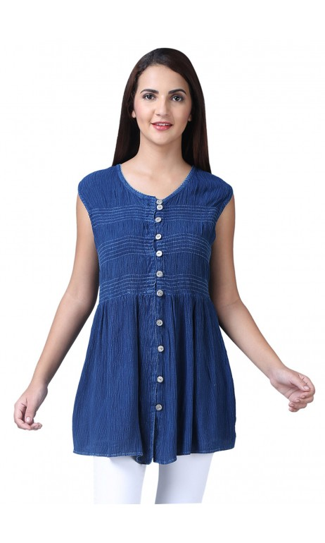 Blue jeans Indian style tunic