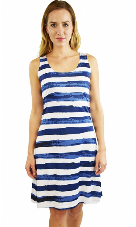 Robe soleil Bleue et Blanche horizontale