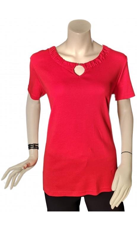 Chandail de cotton Rouge mode