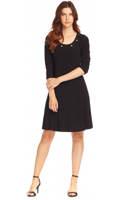 Robe paris noir anneaux féminin Modes Gitane
