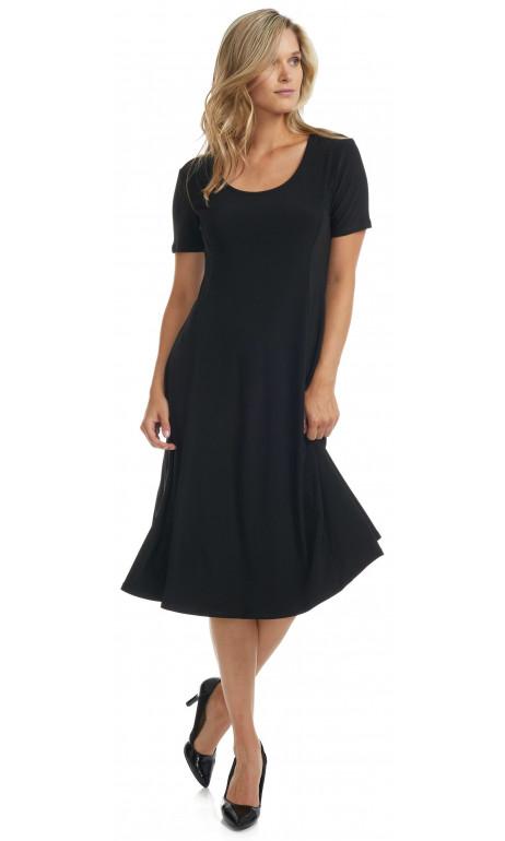 Robe a panneaux Noir uni Modes Gitane