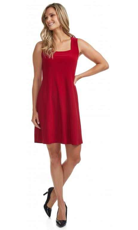 Robe soleil col carré Rouge Mode Gitane