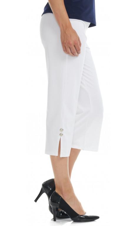 capri en bas du genoux blanc Mode Gitane